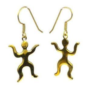 "NWT Artisan made dangle earrings 1"" brass"